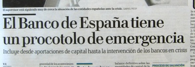 El Banco de España tiene un procotolo de emergencia