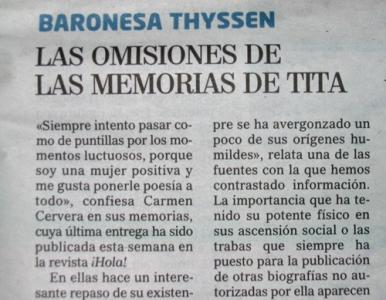 Baroness Thyssen quotation