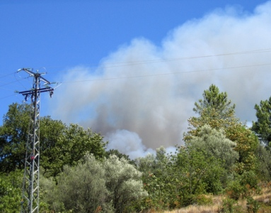 an early image of the Gredos fire