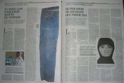 """El Mundo"" double page spread, 22 November 2009"