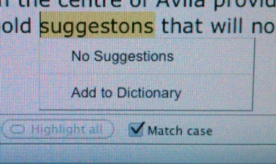 "no suggestions for correct spelling of ""suggestions"""