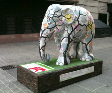 One of the elephant parade sculptures, London