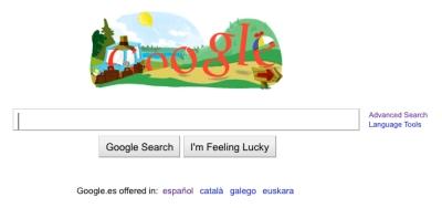 Google Spain logo 21st June 2010