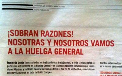 IU general strike advert