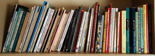 poetry books on a shelf