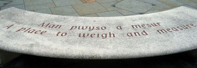 "Engraving: ""a place to weigh and measure"""