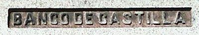 Banco de Castilla engraving on stone bench