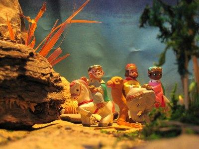 Nativity scene: three kings