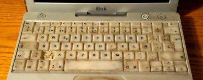 old laptop keyboard
