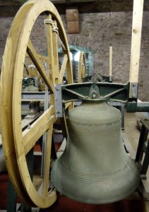 bell mechanism, Brecon cathedral