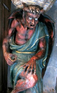 painted statue of demon