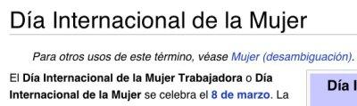 Día internacional de la Mujer - wikipedia