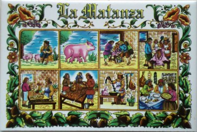 'la matanza' decorative tile