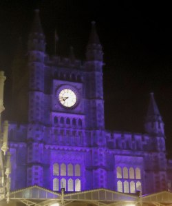 Bristol Temple Meads Station (by night)
