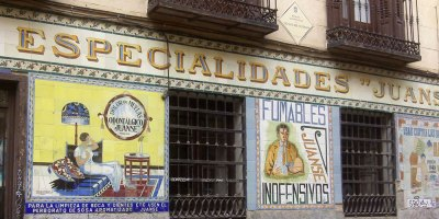 old tile adverts, (especialidades juanse), Madrid