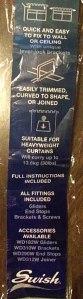 curtain rail packaging label