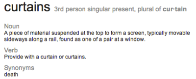 curtains definition