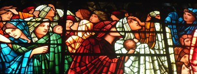Edward Burne-Jones Judgment Day stained glass window, Birmingham Cathedral