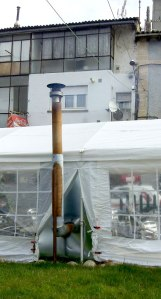smokers' tent chimney