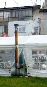 smokers' tent chimney