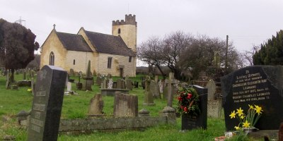 country churchyard, UK