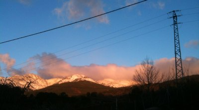 Gredos snow at sunrise