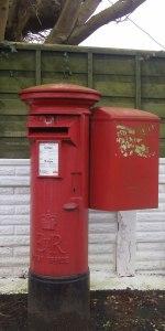 red post box, UK
