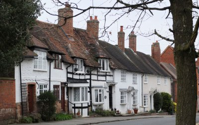Terraced cottages, Kenilworth, UK