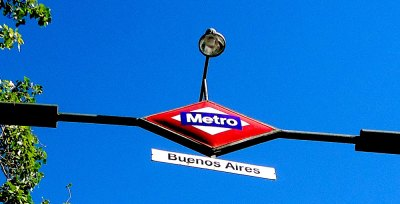 Madrid metro sign: Buenos Aires station