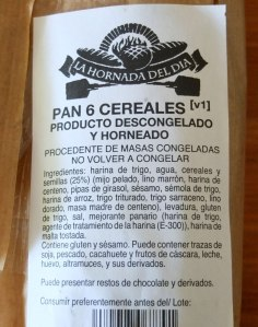 bread label (spanish)