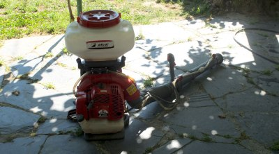 petrol-powered fumigator back pack