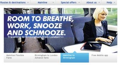 Chiltern Railways advert