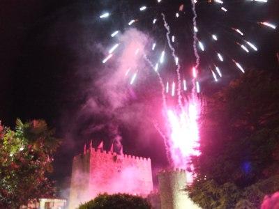 Fireworks, Arenas de San Pedro, fiestas de la Virgen del Pilar
