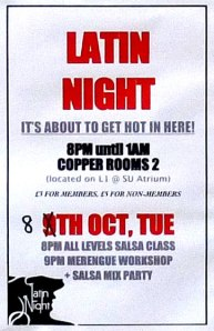 Latin night poster