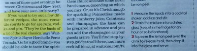 Text from Waitrose Magazine: best spirits for recipes
