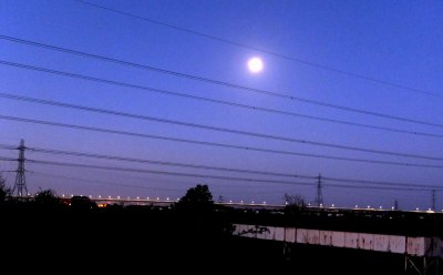 Early dawn over the Severn Bridge