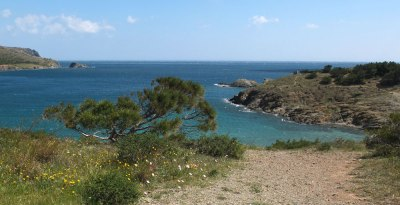 View from the headland, north of Llançà, Catalonia,