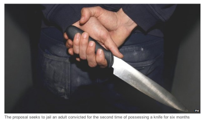 knife image from BBC news story on Tory knife crime sentencing plans