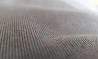 beige corduroy close up