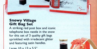 "Gift bag description: ""sprinklied with irredecent glitter"""