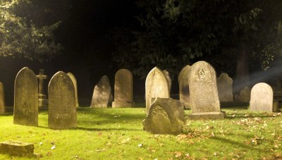 old graveyard at night