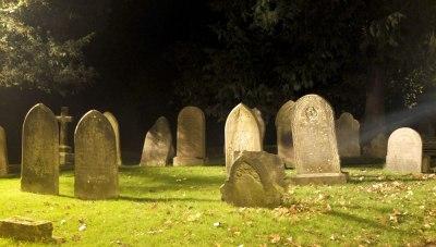 old graveyard at night
