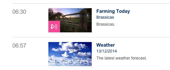 Farming today: brassicas
