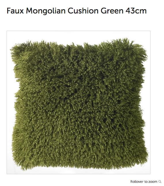 Faux Mongolian cushion
