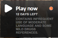 Contains infrequent use of moderate language and some mild drugs references