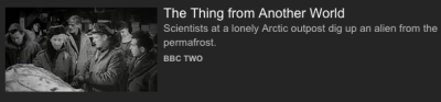 """The Thing from Another World"" listing on iPlayer"