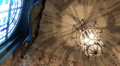 chandelier and stained glass