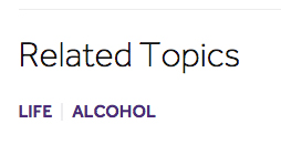related topics: life; alcohol