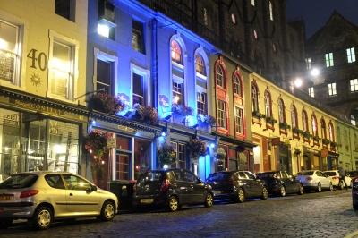 Edinburgh street at night