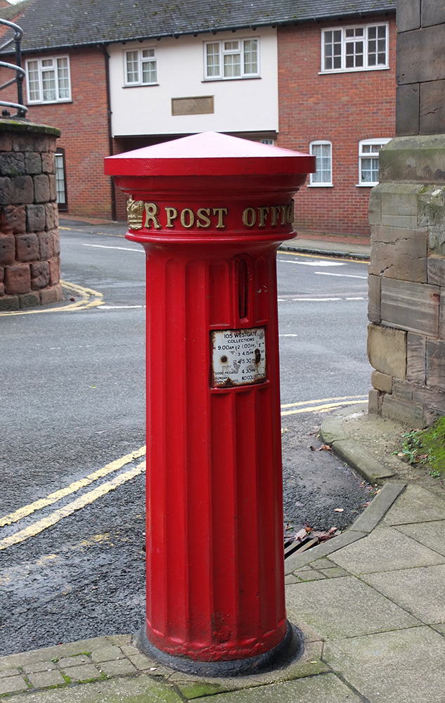 old UK post box